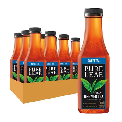 Pure Leaf Iced Tea Unsweetened 18.05 OZ Bottle 12 Count Bottles photo