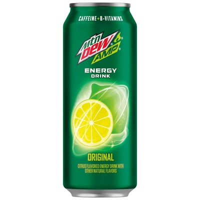 Amp Energy Original Citrus Energy Drink 16 Fl Oz 12 Count Cans photo