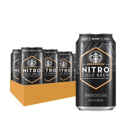 Starbucks Nitro Cold Brew Unsweetened Black 9.6 Fl Oz 8 Ct photo