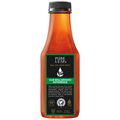 Pure Leaf Unsweetened Black Tea 18.5 Fl Oz 12 Ct Plastic Bottles photo