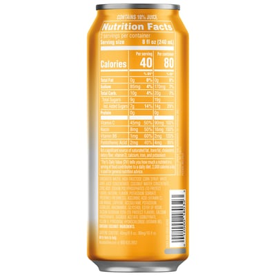 Mtn Dew Kickstart Pineapple Orange Mango 16 Fl Oz 12 Ct Can photo