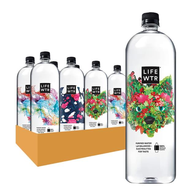 Lifewtr Premium Water 1.5 Liter 8 Ct Plastic Bottles