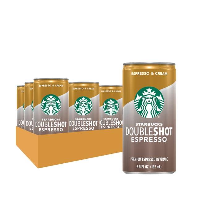 Starbucks Doubleshot® Espresso + Cream Coffee Drinks 6.5 oz cans, 12 Pack