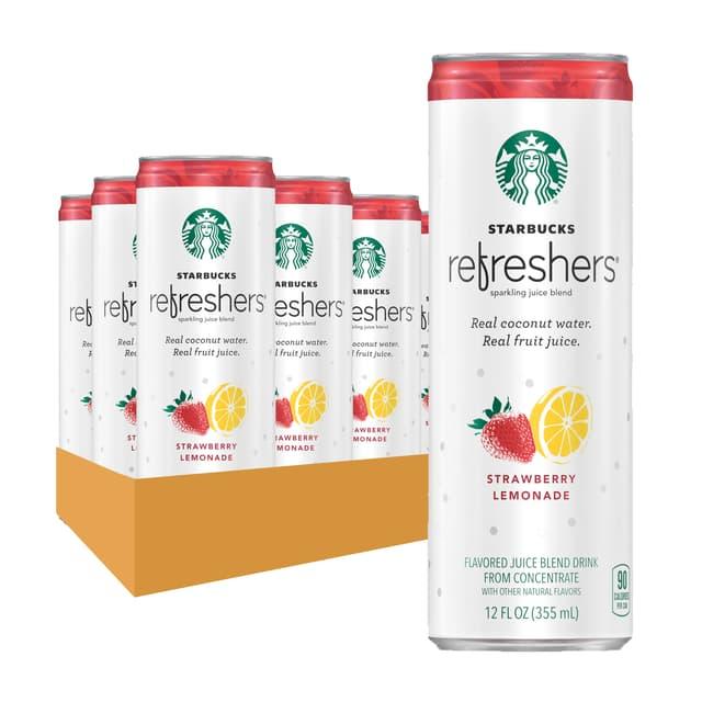 Starbucks Refreshers™ Strawberry Lemonade 12 oz cans, 12 Pack